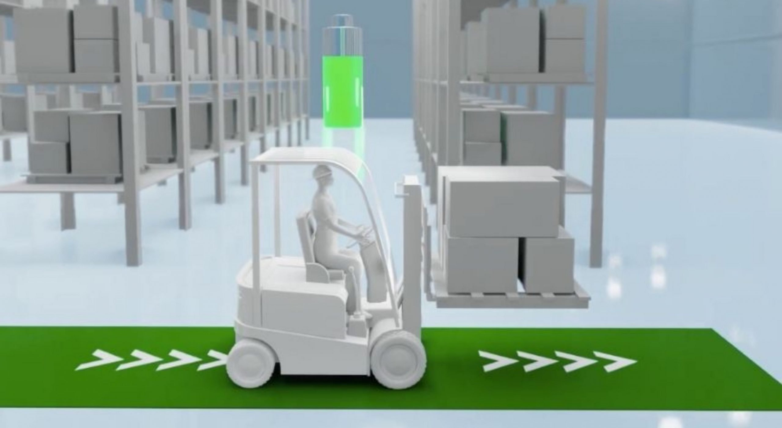 forklift contactless charging