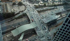 THE PEACE INTERCHANGE IN TEL AVIV. YAAKOBI